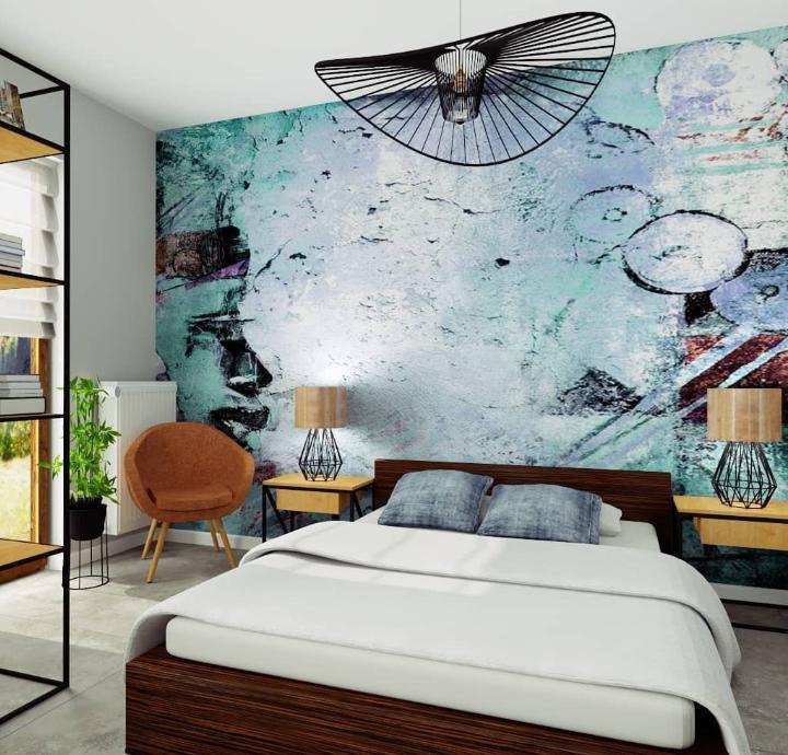 Sypialnia zdwuosobowym łóżkiem