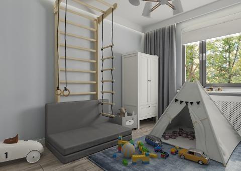 Namiot tipi w pokoju dziecięcym